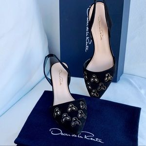 NWT Oscar de la Renta Pamie Sling-back 55mm Pumps